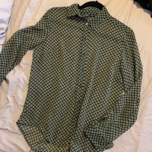 Zara long sleeve sheer button down